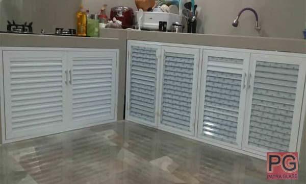 Kitchen Set Aluminium Patra Glass Spesialis Aluminium Dan